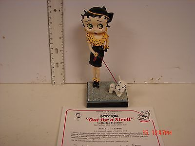 Betty Boop Danbury Mint Figure Figurine Porcelain & Certificate Out For A Stroll