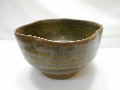 Japanese Tea Ceremony Pottery Bowl Chanoyu Traditional Vintage  #112
