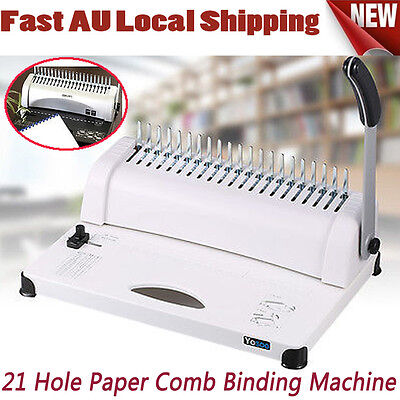Office  Paper Comb Binding Machine Standard 21 Hole Plastic Coil Punch Binder DZ