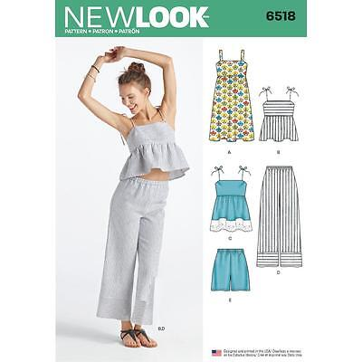 NEW LOOK SEWING PATTERN MISSES\' Dress Tops in 2 Lens Pants & Shorts ...