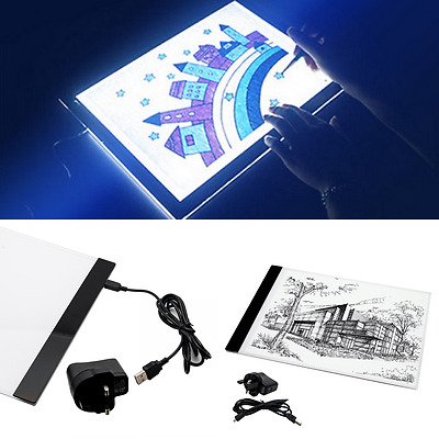 A4 LED Light Box Art Design Stencil Drawing Board Portable Drafting Copy Pad