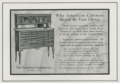 American Dental Cabinet Co.Two Rivers, WI 1931 Half-Page Pictorial Advertisement