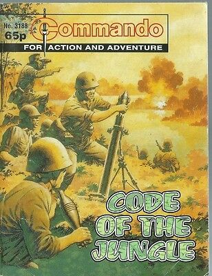 Code Of The Jungle,commando For Action And Adventure,no.3188,war Comic,1998