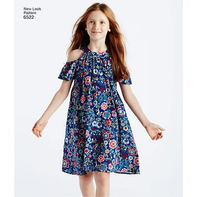 NEW LOOK SEWING PATTERN Child's and Girls' Dresses and Top SIZE 3 - 14 6522