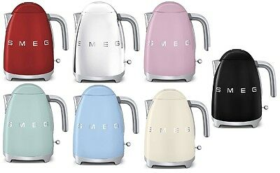 SMEG Retro Style 1.7 L / 7 Cup 1500W Electric Kettle CHOOSE FROM 7 COLORS NEW