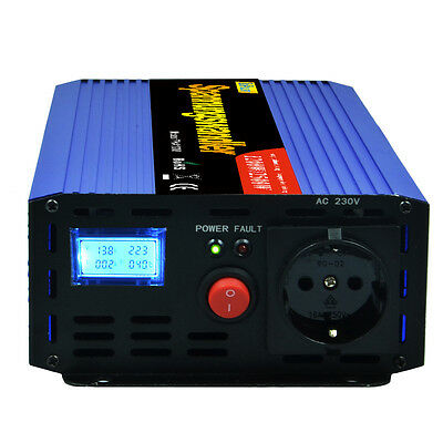 1200W 2500W Power Inverter 12V 240V converter with LCD for Car RV Camp Boat