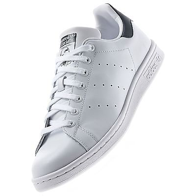 adidas ORIGINALS STAN SMITH TRAINERS TENNIS LEATHER WHITE NAVY CLASSIC RETRO NEW