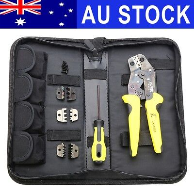 Paron JX-D4 4 In 1 Ratchet Terminal Wire Crimper Crimping Pliers Tool 26-10 AWG