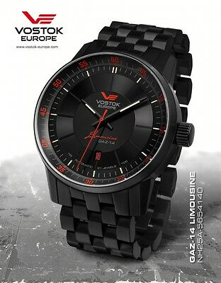 Vostok Europe GAZ 14 Automatic with Trigalights NH35A-5654140b NEW