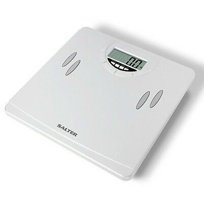 Salter 9139 Digital Lcd Bathroom Scale Body Fat Hydration Analyser 15Yr Warranty