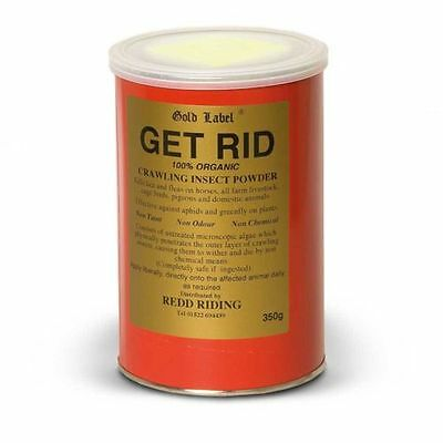 GOLD LABEL GET RID (350g) horse pony fly repellent powder insect organic GLD0905