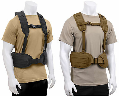 Tactical Load Bearing Battle Belt Harness Military MOLLE Police Rothco 1106