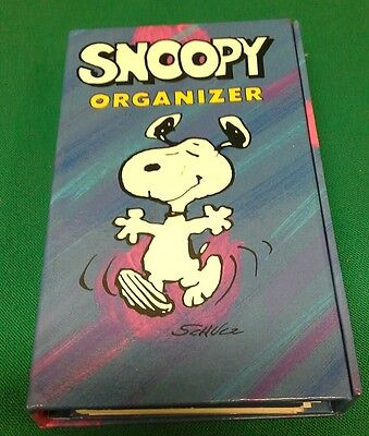 PEANUTS / SNOOPY Retro Personal Organiser with Calender, Note Pad and Directory