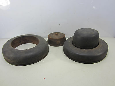 2 Vintage PA Co. Wooden Hat Molds