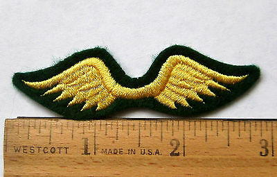 Girl Scout Brownie Yellow Gold WINGS TO JUNIORS Patch Fly-Up Badge Award NEW