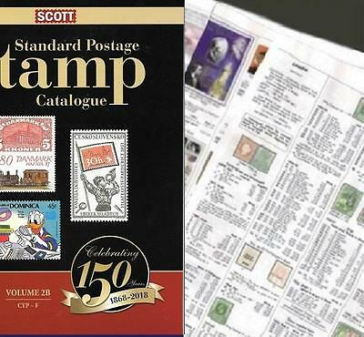 French Morocco 2018 Scott Catalogue Pages 817-824