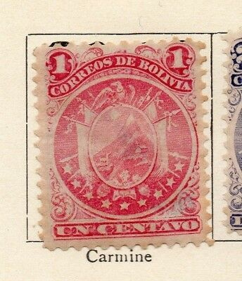 Bolivia 1890 Early Issue Fine Mint Hinged 1c. 157612