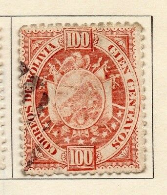 Bolivia 1894 Early Issue Fine Used 100c. 157623