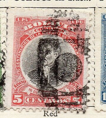 Bolivia 1909 Early Issue Fine Used 5c. 157637