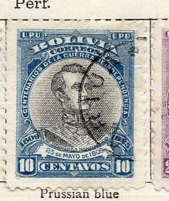Bolivia 1909 Early Issue Fine Used 10c. 157638