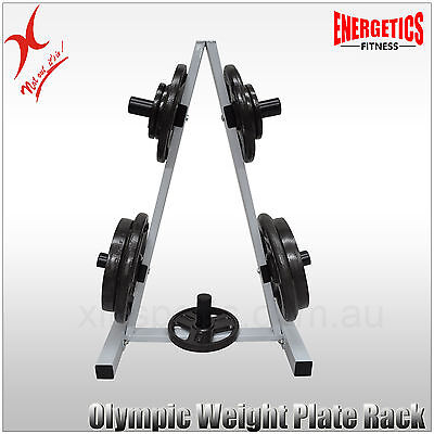 Display - Pickup -Olympic Weight Plates Storage Rack - A Frame Weight Plate Tree
