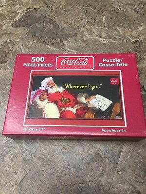 2004 Coca-Cola 500 Piece Puzzle Christmas Santa Relaxing Bottle of Coke SEALED