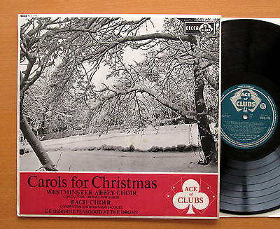 ACL 175 Carols For Christmas Westminster Abbey Bach Choir 1962 Decca Mono VG/EX