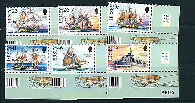 GREAT BRITAIN JERSEY 2001 SAILING SHIPS set complete (Scott 982-87) VF MNH
