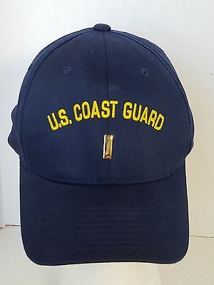 US Coast Guard Blue Military Ball Cap Hat Embroidered Flexfit Small Medium