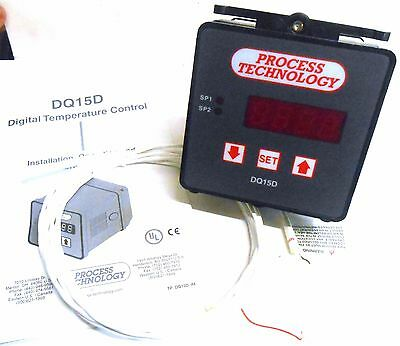 Process Technology, Digital Temperature Controller, Dq15D, Type 12 Enclosure