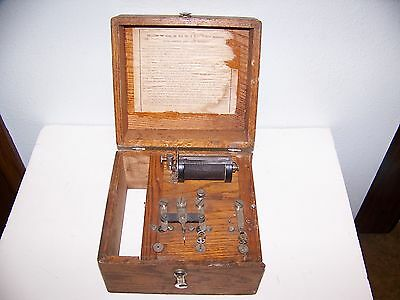 Antique Vintage Home Medical Apparatus Number 6 Quackery Battery Electropathic