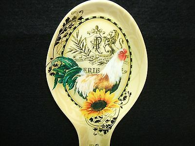 Rooster Sunflowers Melamine Spoon Rest