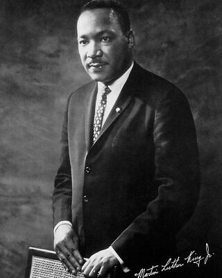 PORTRAIT OF DR. MARTIN LUTHER KING, JR. 8x10 SILVER HALIDE PHOTO PRINT