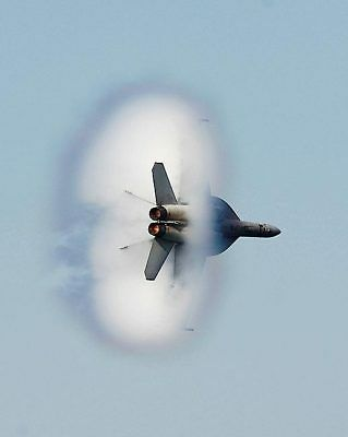 F/A-18F Super Hornet Supersonic Flyby 8x10 Silver Halide Photo Print