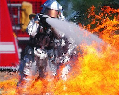 Firefighter Training Exercise 11x14 Silver Halide Photo Print