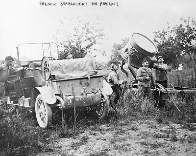 French Soldiers w/ Searchlight WWI 8x10 Silver Halide Photo Print