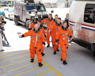 STS-121 Discovery Astronauts Pre Launch 11x14 Silver Halide Photo Print
