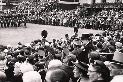 Winston Churchill Candid Among Stadium Crowd 12x18 Silver Halide Photo Print