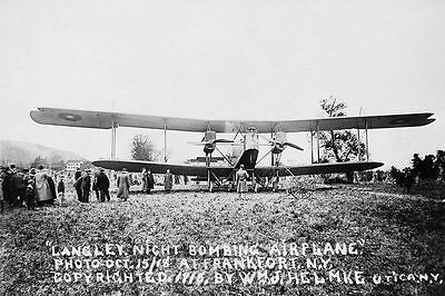 WWI Langley Night Bomber Plane 12x18 Silver Halide Photo Print