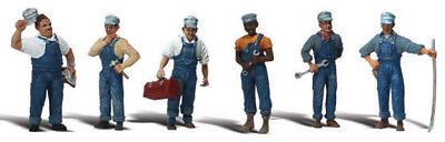 Woodland Scenics O Scale Scenic Accents Figures/People Set Train Mechanics (6)