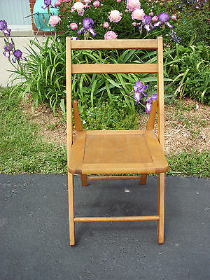 Vintage Acme Chair Co. Adult Wooden Folding Chair Camping Fishing Picnic Funeral