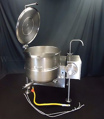 Cleveland Gas 40 Gallon Steam Jacketed Tilt Kettle Kgl-40-T Flawless Cond.! 60