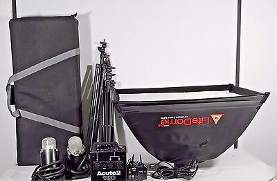 Profoto Acute2 1200 and 2 Acute D4 Heads RFi Extra Accessories