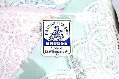 Vintage Belgian Lace Trimmed Handkerchiefs Little Lace Shop Brugge NIP 4