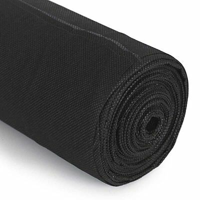 Brand New Black Weed Control Fabric Chemical Free Ground Cover Sheet 8M X 1.5M