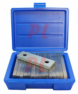 8 Pair 1/2'' Steel Parallel Set 6'' Long 0.0002'' Square Precision 7/8in - 1-3/4