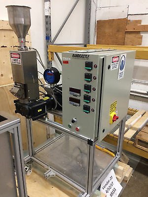 RANDCASTLE Extruder RCP-0625 Microtruder Compounding/Tubing Extrusion Water Bath