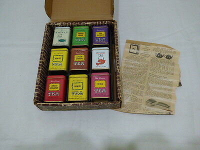 The Swiss Colony Vintage John Wagner & Sons Tea Tins (Set of 9)
