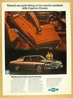 1975 Chevrolet CAPRICE CLASSIC Coupe color photo vintage print Ad