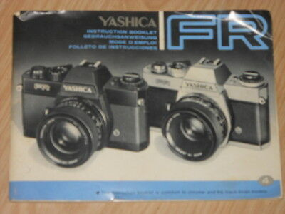 Yashica Fr Camera Owners Manual